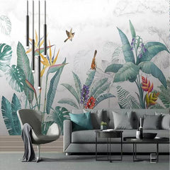 Pastel Garden Mural - Wallpaper Sample