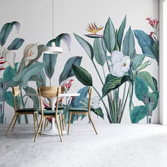 White Calas in the Garden Mural Wallpaper