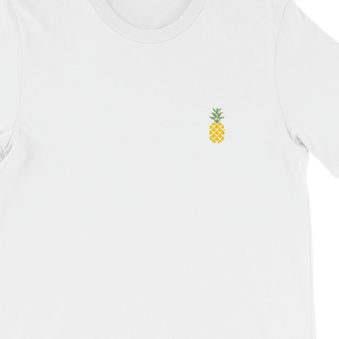 JASS Pineapple Embroidery T-Shirt | White