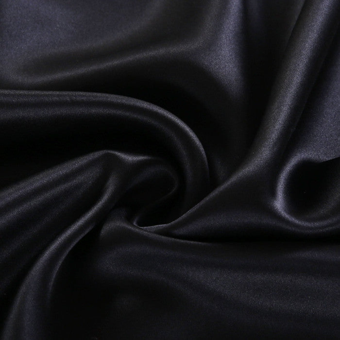 Black Mulberry Silk Pillowcase