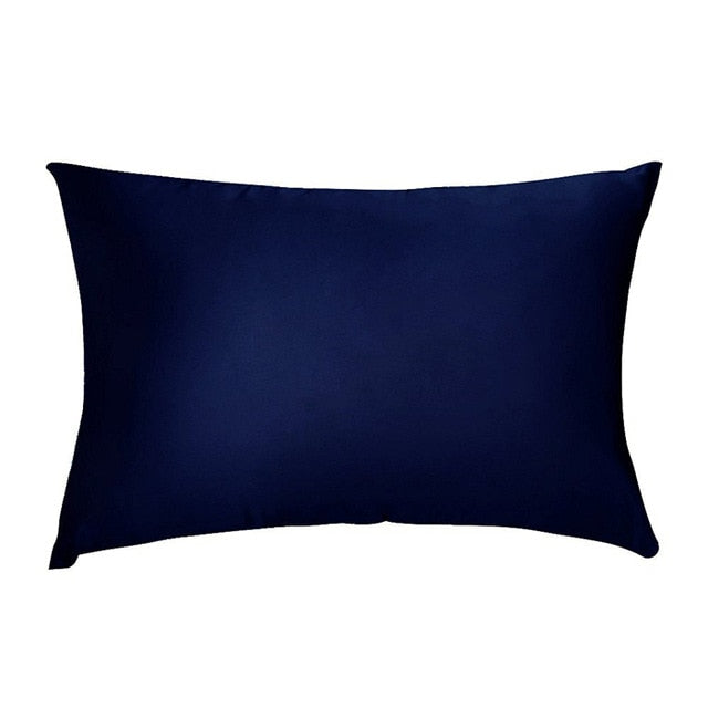 Dark Blue Mulberry Silk Pillowcase