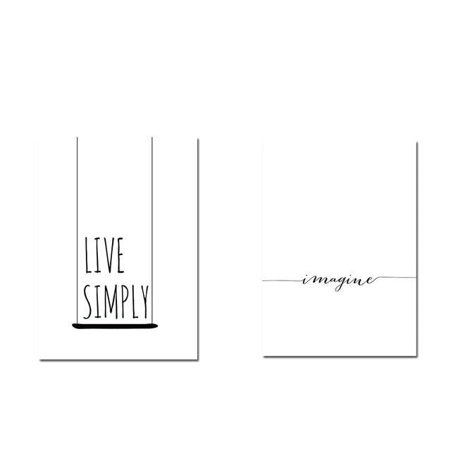 Live Simply Minimalist Wall Decor