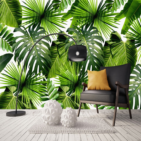 3D Rainforest Banana Leaves Wall Mural (SqM)