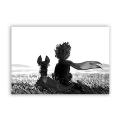 The Little Prince & Fox Canvas Art Print