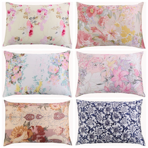 Floral Pattern Mulberry Silk Pillowcase