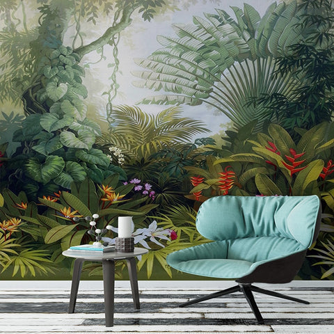 Luxuriant Garden Mural Wallpaper (SqM)