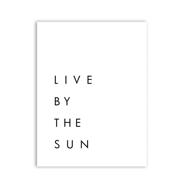 Live by the Sun. Love by the Moon.