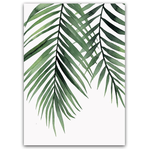 Tropical Palm Leaves Wall Art