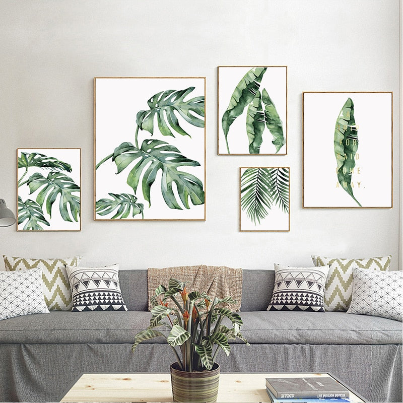 Banana Solo Green Leaf Wall Art