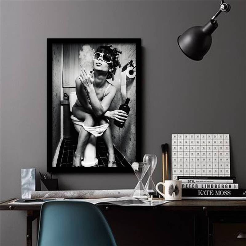 The Smoking Beauty Canvas Print