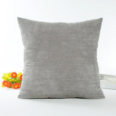 Silver Grey Corduroy Cushion Cover