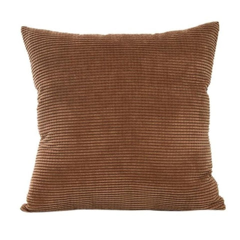 Brown Corduroy Cushion Cover