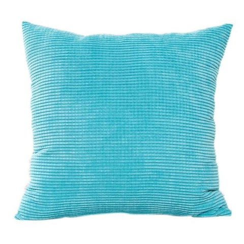 Azure Blue Corduroy Cushion Cover