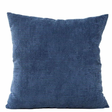 Dark Blue Corduroy Cushion Cover