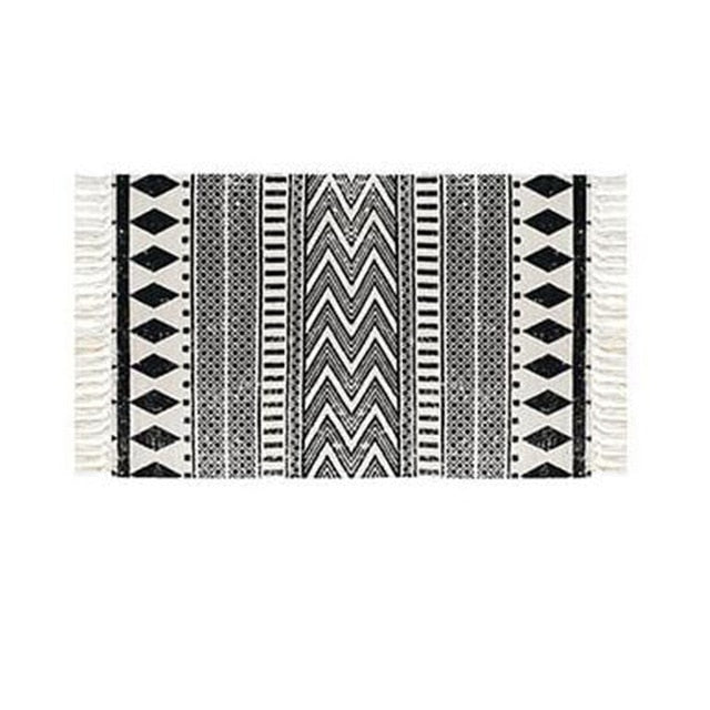 Ethnic Black & White Rugs