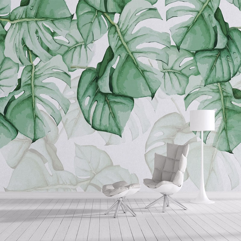 3D Aquarelle Rainforest Morning Wallpaper