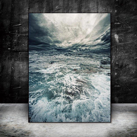 The Water Waves Canvas Print