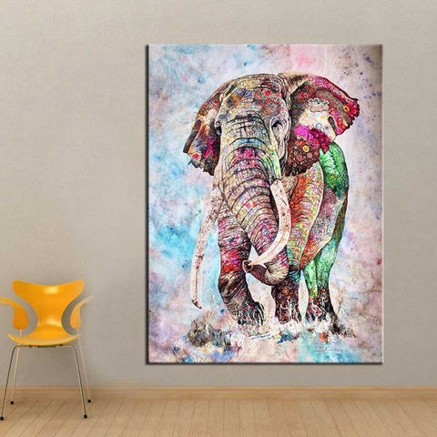 Fantasy Colorful Elephant Wall Art