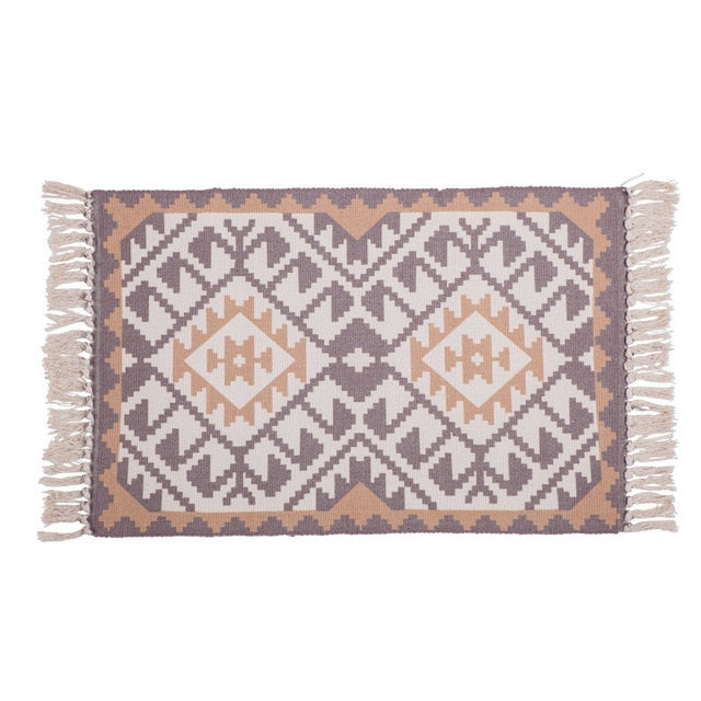 Handwoven Tribal Geo Carpet