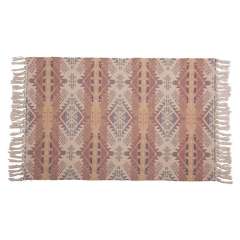 Handwoven Colored Stripes Rug