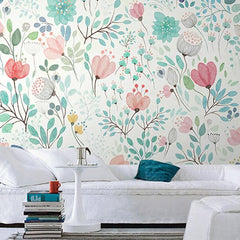 Botanical Tale Floral Wall Mural (SqM)