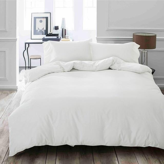 Classic Monochrome Striped White Duvet Cover Bedding