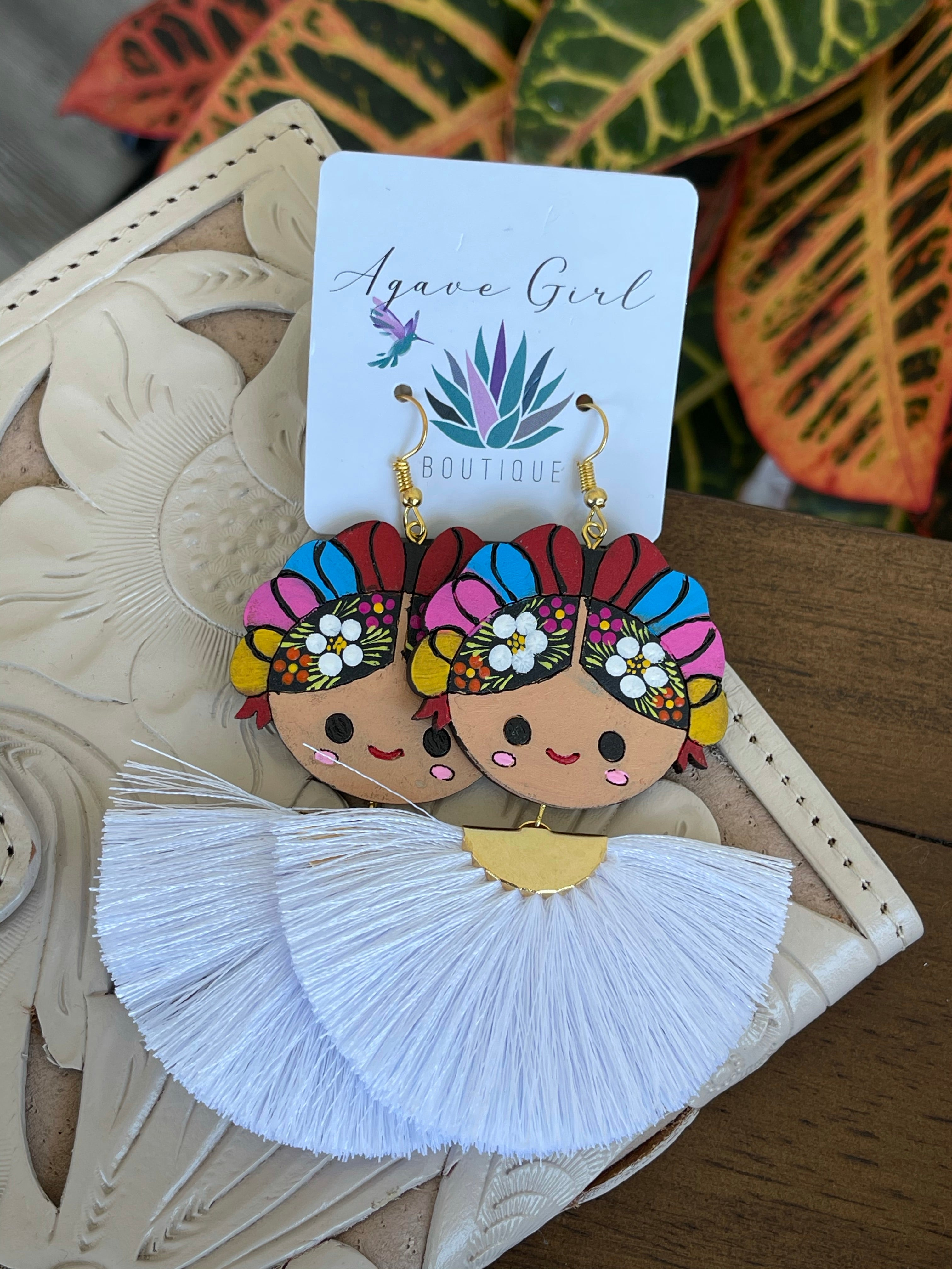 Muñeca Maria Painted Earrings