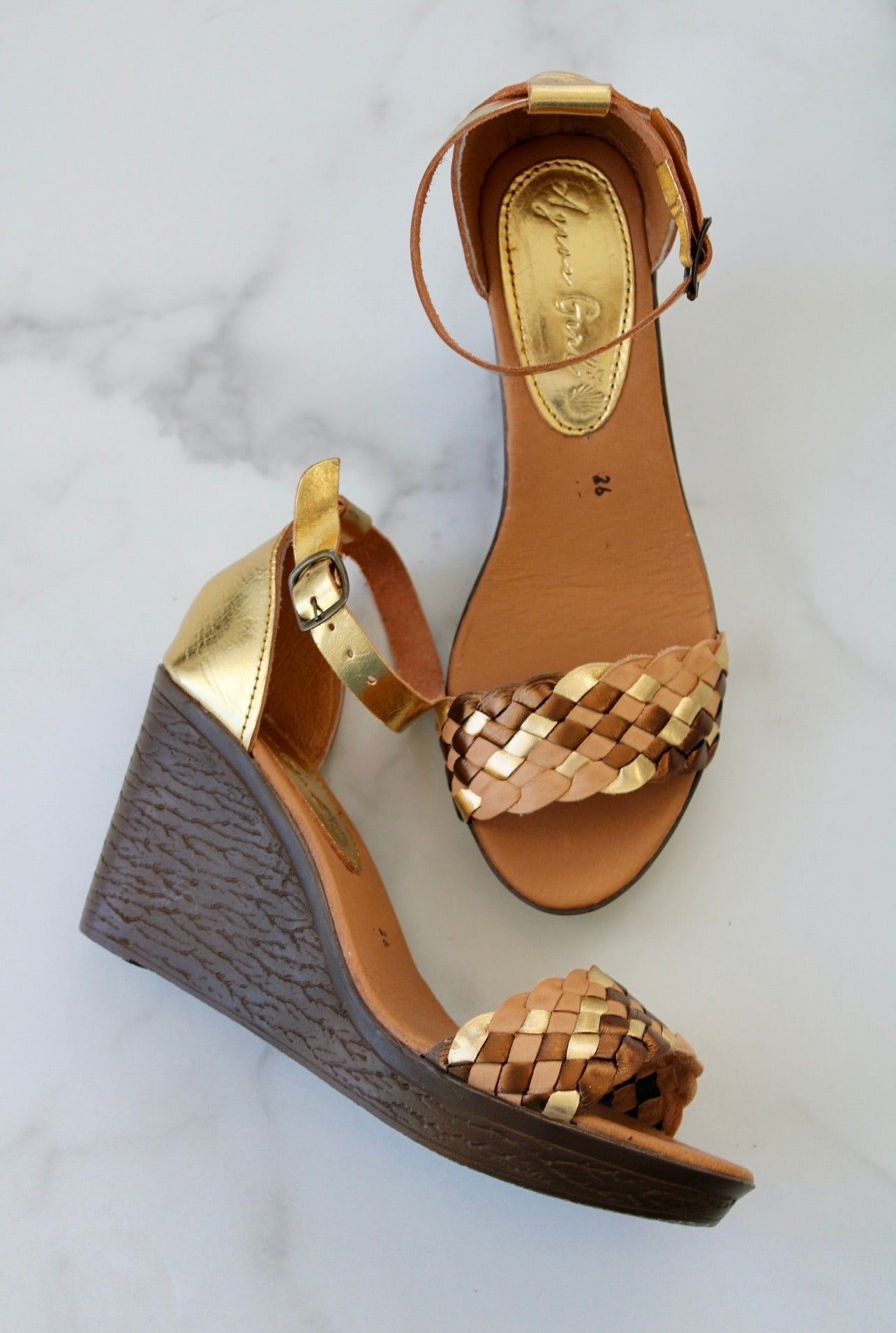 Verano Wedges - Gold