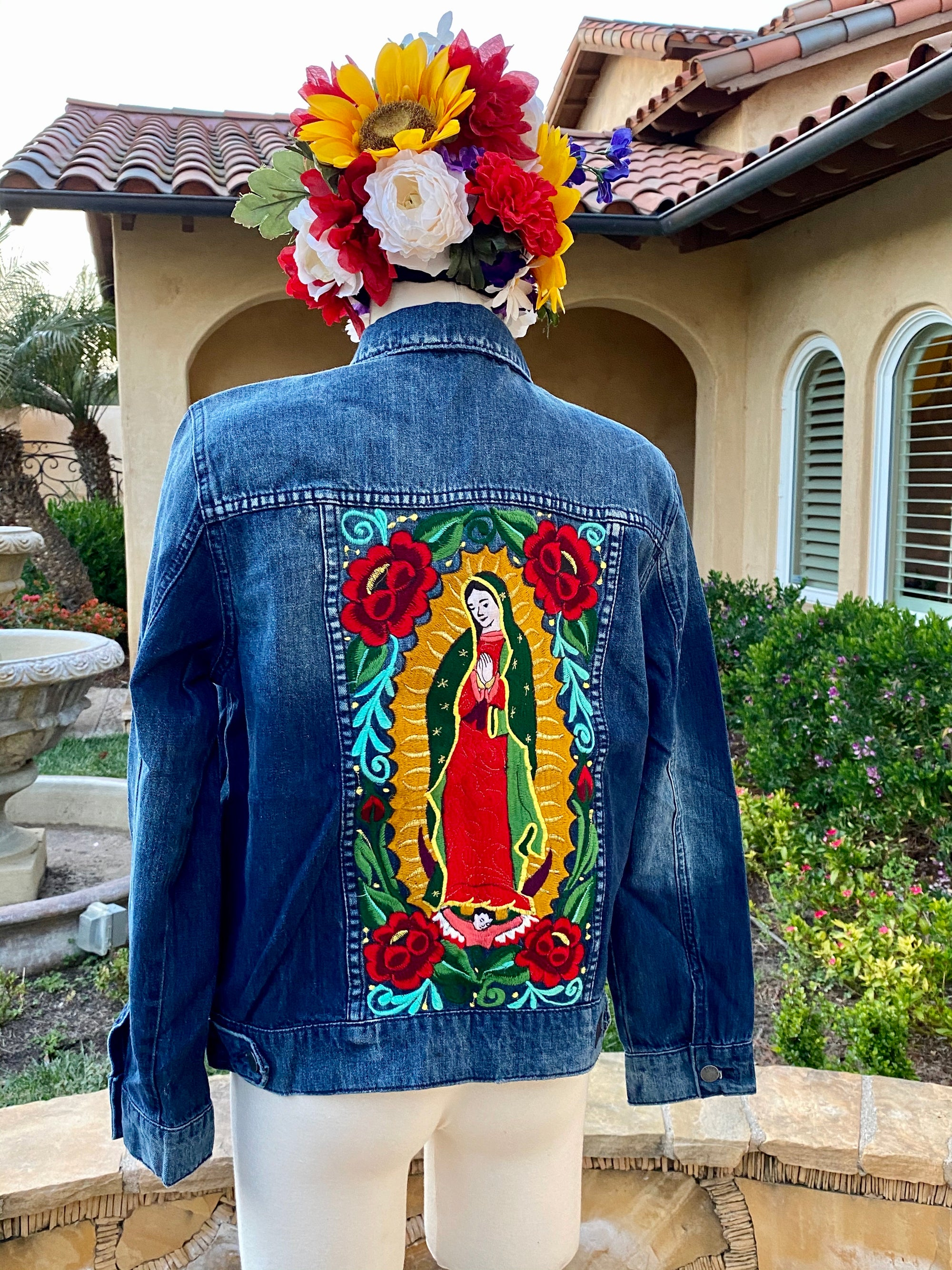 Virgen De Guadalupe Denim Jacket (Boyfriend Fit)