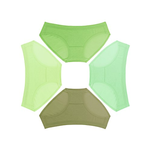Pure 5.5 Women's Hipster, Emerald 4-Pack