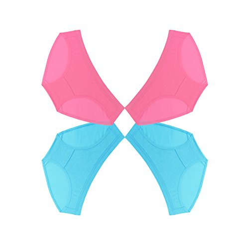 Pure 5.5 Women's Hipster, Blue & Pink Butterfly 4-Pack