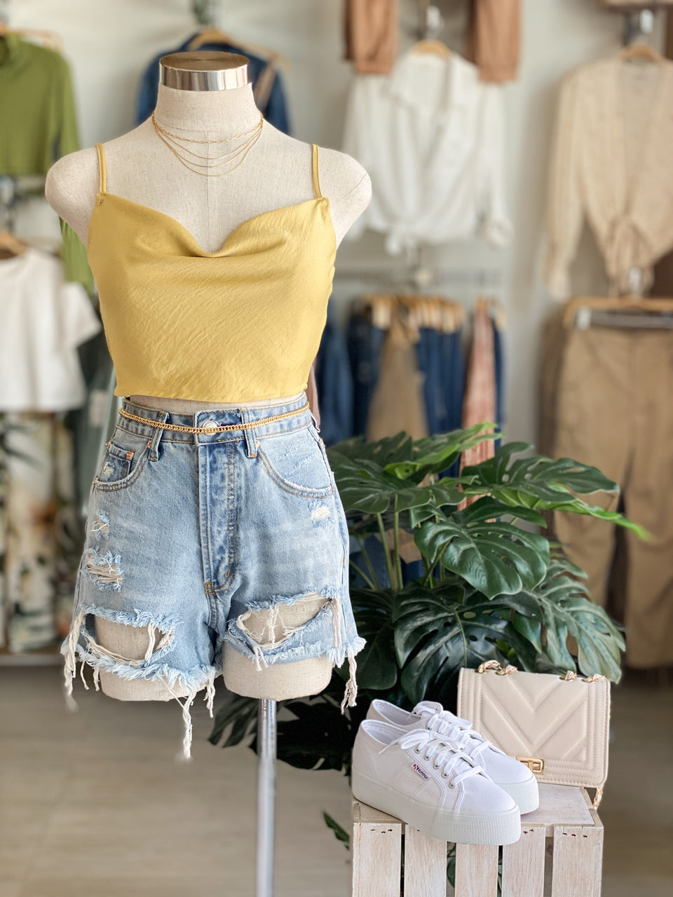 Satin Flowy Crop
