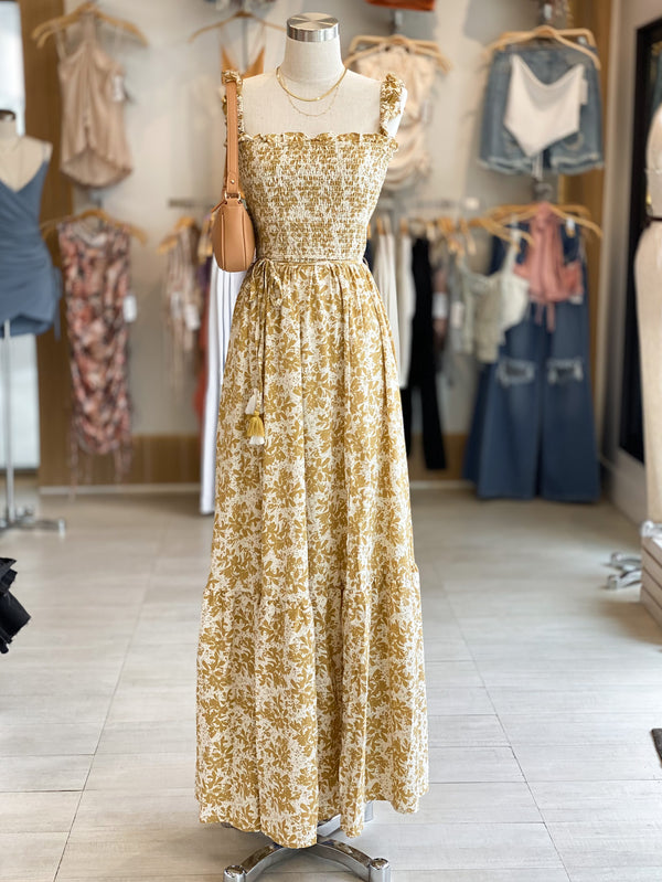 Smocked Floral Maxi