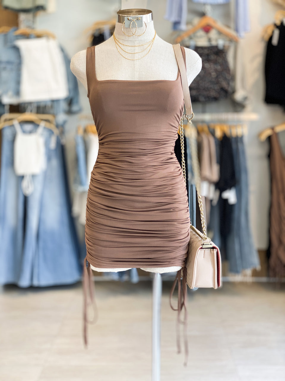 Tank Side Ruched Dress
