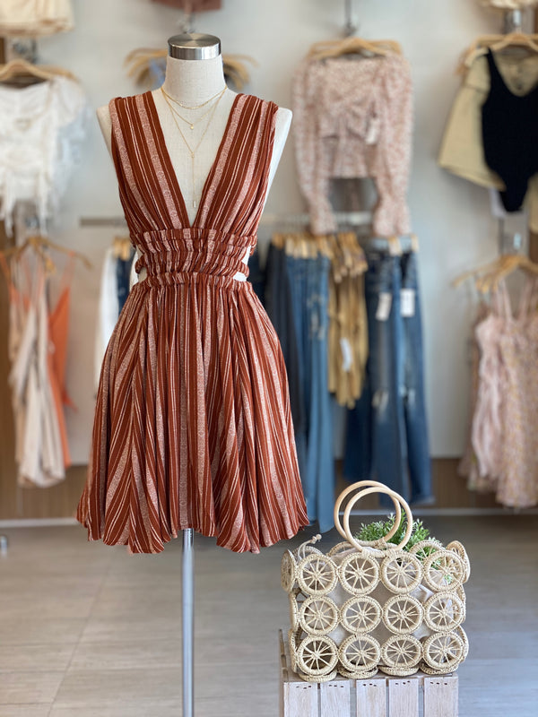 Stripe Flowy Mini