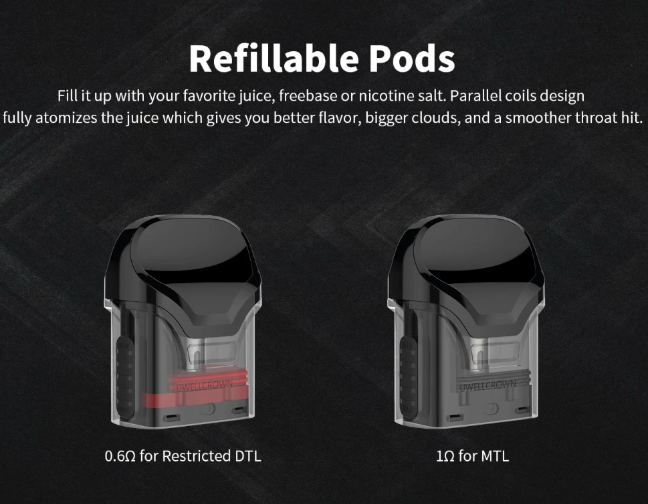 Uwell - Crown Replacement Pod Cartridge (2pack)