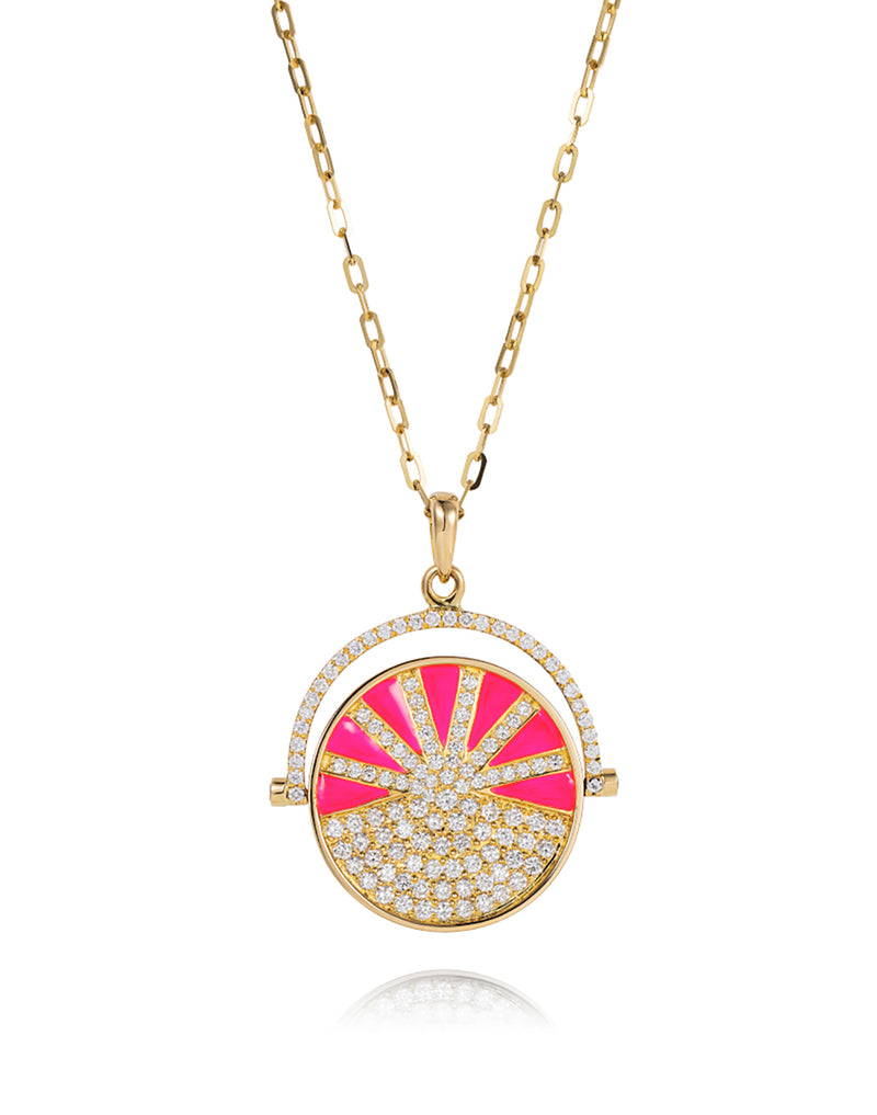 'Show n Tell' - Ready 2 play rainbow pink pendant