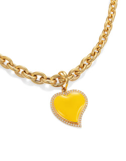 'Show n Tell' Yellow Heart Pendant