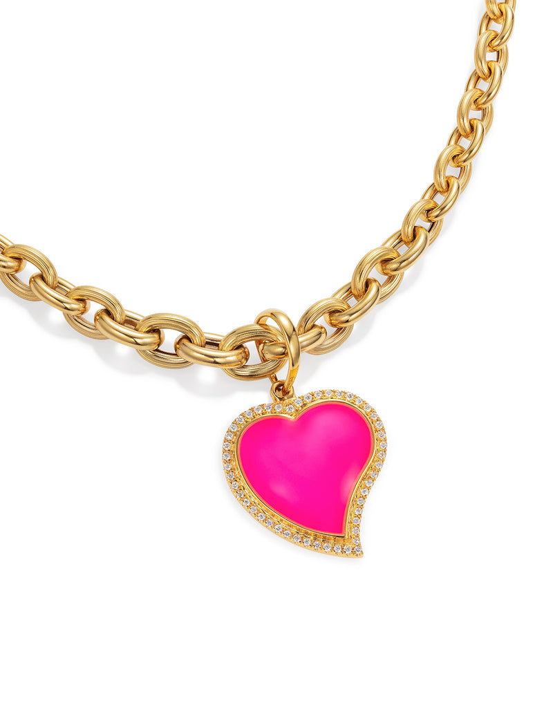'Show N Tell' Pink Heart Pendant