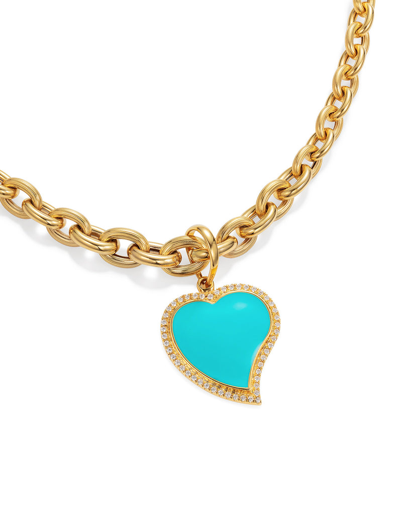 'Show N Tell' Blue Heart Pendant