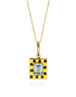 'Show n Tell' black & yellow pendant