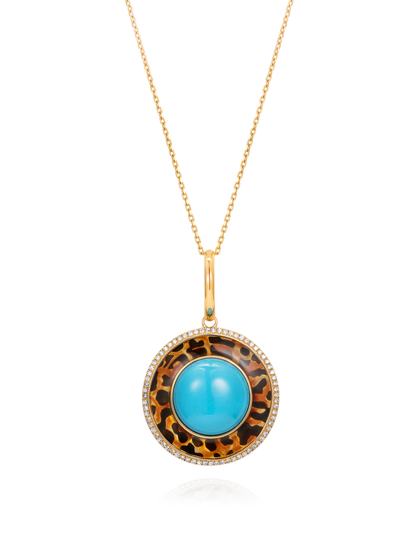 Show and Tell - Ready 2 empower (leopard print) pendant