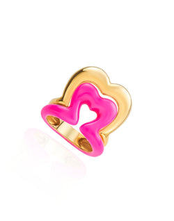Show n Tell - Ready 2 Burst Pink Neon Ring