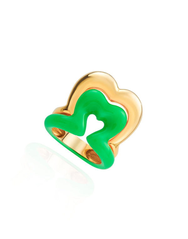 Show N Tell - Ready 2 Burst green Neon  Ring
