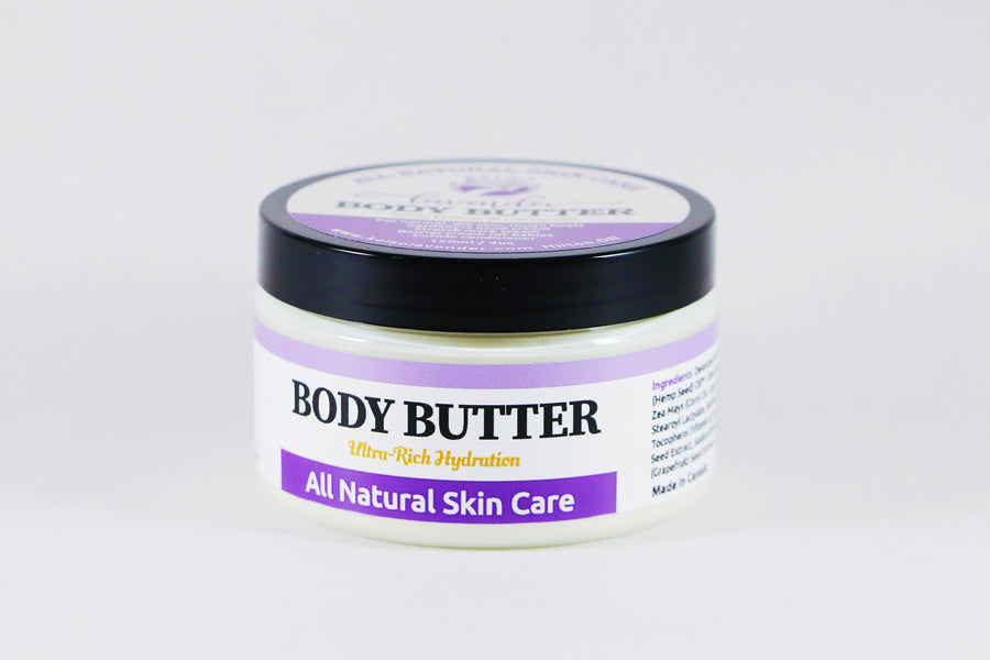 Kelso Lavender, body butter with hemp and olive oil, 120mL (Small) and 220mL (Large)