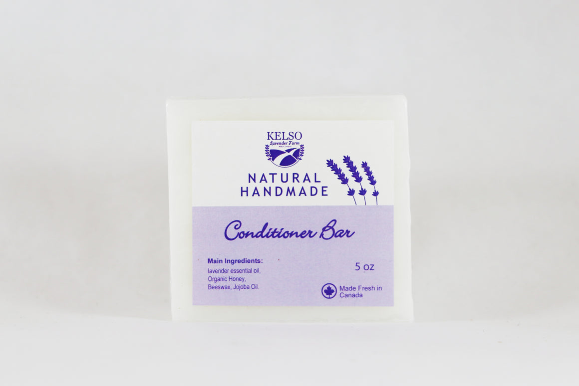 Kelso Lavender, Natural Handmade Conditioner Bar , 5oz, Wrapped