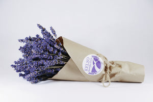 Kelso Lavender, Dried English Lavender Bouquet, Super Blue, 7 inches, 200 stems, Wrapped