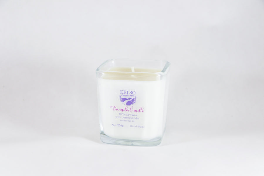 Kelso Lavender, Soy Wax Candle with Lavender Essential Oil, 200g