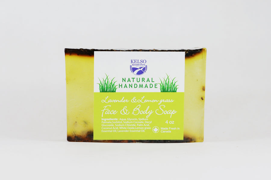 Kelso Lavender, Face and Body Soap, Lavender and Lemongrass, 250g, Wrapped