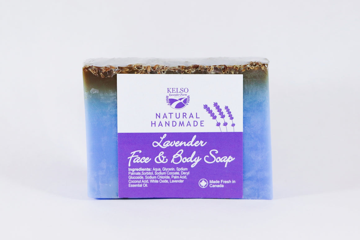 Kelso Lavender, Face and Body Soap, Lavender, 250g, Wrapped